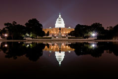 US Capitol at night Royalty Free Stock Image
