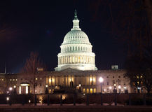 US Capitol Night Royalty Free Stock Images