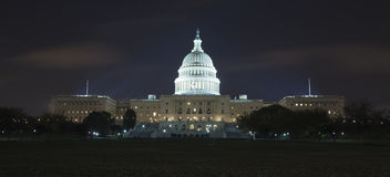The US Capitol in the night Stock Photo