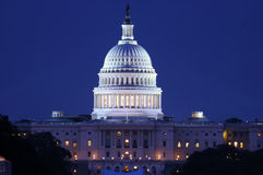 US Capitol at night Stock Photography