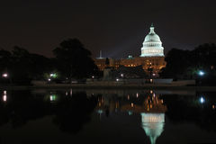 US Capitol at night Royalty Free Stock Photos