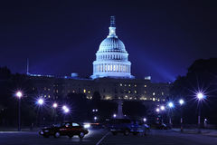 US Capitol at night Stock Photo