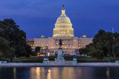 US Capitol at night. US Capitol Congress House Representatives Senate Night Reflections Washington DC Stock Photography