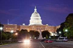 US Capitol in the night Royalty Free Stock Photos