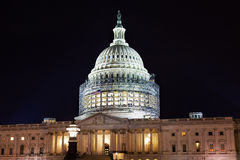 US Capitol North Side Construction Night Stars Washington DC Stock Photo