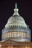 US Capitol North Side Dome Construction Night Stars Washnington DC stock images