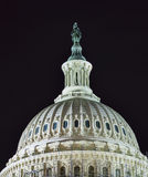 US Capitol North Side Dome Night Stars Washington DC Stock Photo