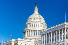 US Capitol at sunny day royalty free stock photo
