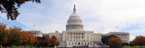 US Capitol Panoramic royalty free stock image