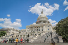 US Capitol with people royalty free stock photo