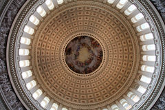 US Capitol Rotunda. The ceiling of the US Capitol rotunda in Washington, DC Royalty Free Stock Photo