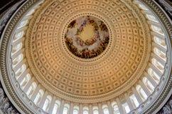 US Capitol Rotunda. Detail of the interior decoration royalty free stock photo