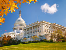 US Capitol at sunny day Stock Photo