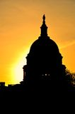 US Capitol in sunrise, USA Royalty Free Stock Image