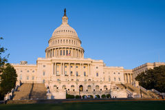 US Capitol at sunset Royalty Free Stock Photos