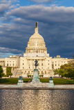 US Capitol under stormy sky Stock Photo