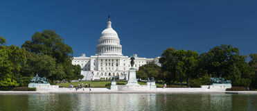 The US Capitol. In Washington D.C royalty free stock photography