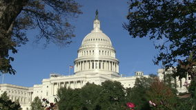 The US Capitol in Washington, DC stock video footage
