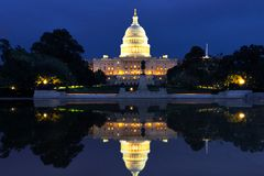 The US Capitol in Washington DC Landscape stock images