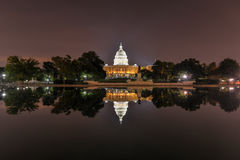 US Capitol in Washington DC at night Royalty Free Stock Photos