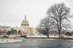 US Capitol in Washington DC at winter. Winter Washington DC: US Capitol at winter day royalty free stock images