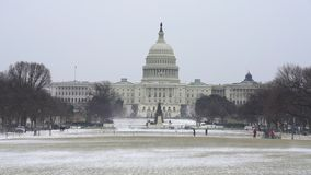 US Capitol in Washington DC at winter stock video