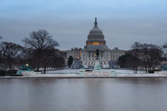 US Capitol Winter Morning Washington DC Stock Images
