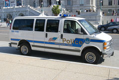 US Captiol Police. A US Capitol Police van is parked outside the Library of Congress Royalty Free Stock Photography