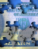 US cash Puzzle Royalty Free Stock Photos