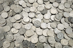 25 US cent coins Royalty Free Stock Image