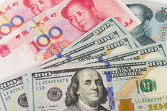 US China currency Royalty Free Stock Photo