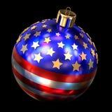 US Christmas ball. 3D render of the US Christmas ball royalty free illustration