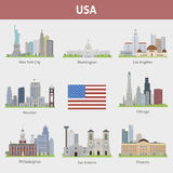 US Cities Royalty Free Stock Photography