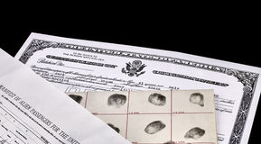 US Citizenship Documents Stock Photography