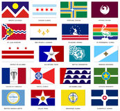 US City Flags Vector Royalty Free Stock Photo
