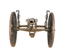 US Civil War cannon. Photo of a US Civil War cannon isolated over a white background royalty free stock photography