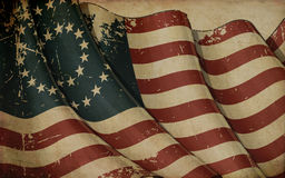 US Civil War Union -37 Star Medallion- Old Paper Background Stock Photos