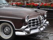 US Classic Car with raindrops Stock Photos