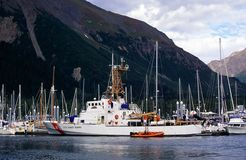 US Coast guard. At the harbor royalty free stock image