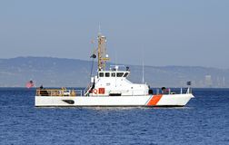 US Coast Guard anchored in the bay Stock Photos