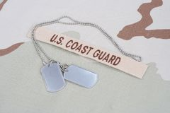 US COAST GUARD branch tape royalty free stock photography