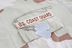 US COAST GUARD branch tape stock photography