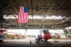 US Coast Guard Chopper Stock Photo