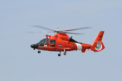 US Coast Guard Dolphine Helicoptor Royalty Free Stock Photography