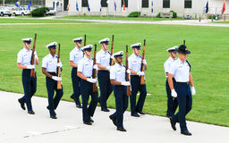 US Coast Guard Drill Team Stock Image