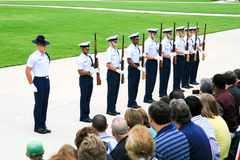 US Coast Guard Drill Team royalty free stock photo