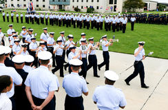 US Coast Guard Drill Team Royalty Free Stock Photography