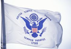 US Coast Guard Flag Stock Photo