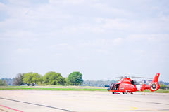 US Coast Guard Helicopter. US Coast Guard Dolphin Helicopter Stock Photo