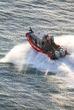 US Coast Guard motorboat sailing Stock Photo